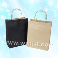 Colored Kraft Paper Bag With Flat Handle
