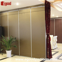 Restaurant mobile wall screen door for room dividing