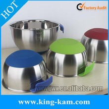 Wholesale stainless steel new mixing bowl steel salad bowl with galvanic corrosion measuring line