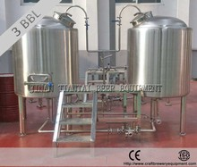 small batch electric 3 bbl brewhouse in restaurant