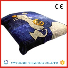 R13133 blue color fish printed hot selling new walmart fleece super soft thick fleece blanket