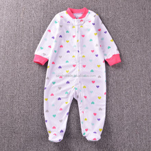 Various styles Candy colors polar fleece baby rompers plain toddler pajamas