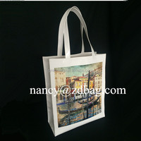 Italy Venice souvenirs printing Glossy coated pvc shopping bag