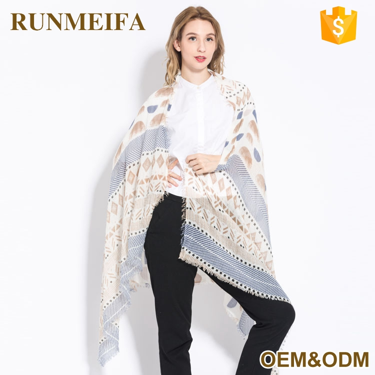 Sweden Geometry Pattern Custom Made Design Shawl Scarf Wholesale Price For Scarf Distributor
