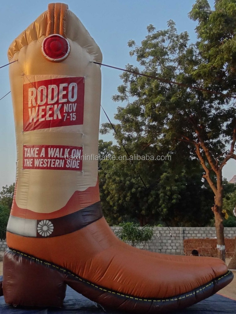 Big Inflatable Cowboy Boot Model for Advertising Decoration