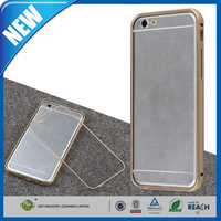 C&T Ultra-thin Aluminum Metal Bumper Case Clear Back Cover For Apple 4.7 iPhone 6