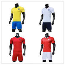 2018 world cup jersey customized national team soccer jersey football set