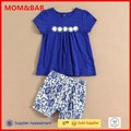 Fashion Girls Set 2015 Summer Wholesale Newest mom and bab 100% Cotton Baby Shorts