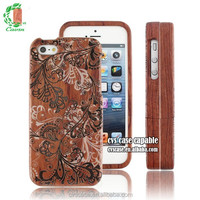 For Iphone 5 Case Funky Engraving Natural Wooden For Phone Case .