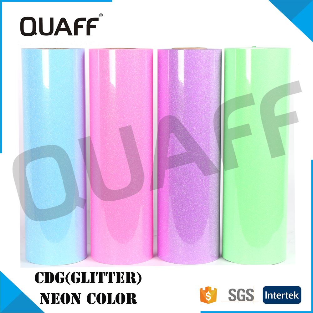Hight Quality QUAFF KoreaT-shirt Glitter Heat Transfer Vinyl CDG Neon Color for Sale