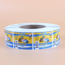 Various kinds of transparent roller adhesive labels printing manufacturer supplied