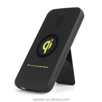 Ce Rohs Fcc Wireless Charger Power Bank Qi Wireless Power Bank