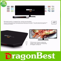 M9 Plus tv box android 5.1 google tv box with skype quad core amlogic S905 4K smart tv box