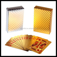 24k gold playing card with USD 100 Banknote / Euro 500 banknote