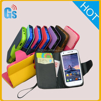 World Cup 2014 Promotional Item For Wiko Phone Pu Leather Wallet Flip Case for Wiko Cink Peax