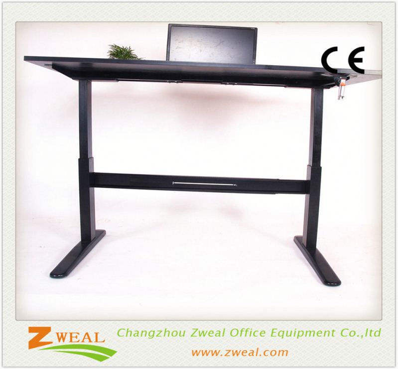 manual crank laptop desk frame electric height adjustable table leg