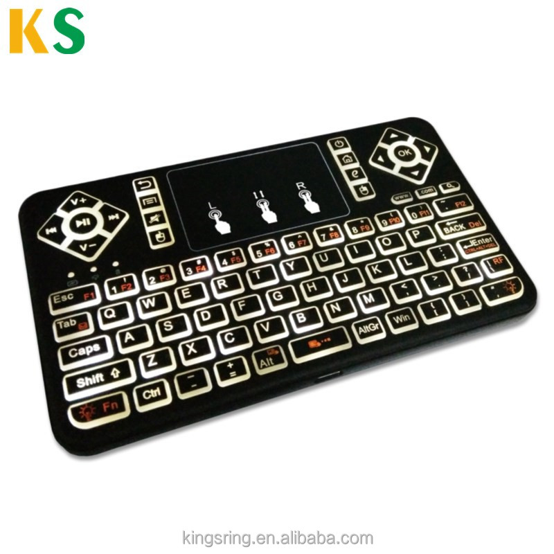 Muti-function backlight 2.4G wireless mini keyboard Q9 backlit BT keyboard for smart tv and tv box