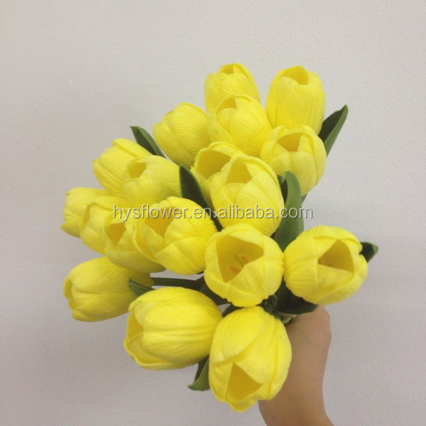 pu tulips life-like artificial flowers plastic flower