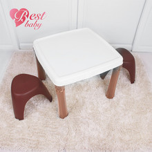 Children furniture plastic chair and table