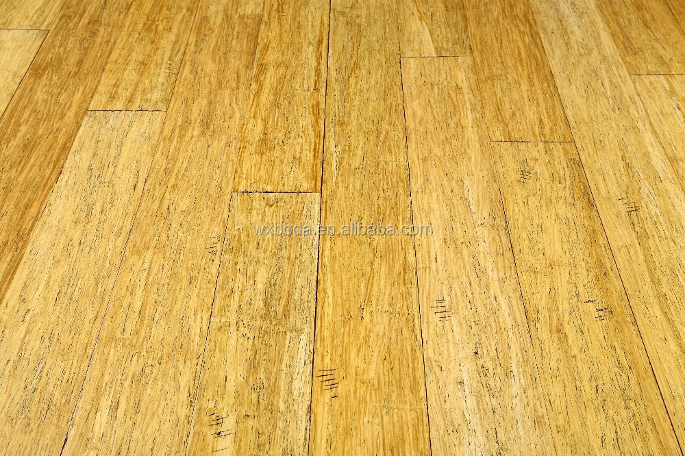 Hand Scraped Natural Strand Woven Bamboo Flooring