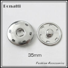 35mm big sewing on snap button and fastener for clothes bulk sewing snap button