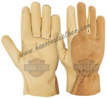 Attractive Orange hi viz traffic anti vibration truck driver driving gloves