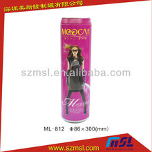 Lovely Lady Slimming Pants Tin Box in Cola Shape, Clothing Packing Tin Box, Cola Shaped Tin Box