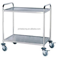 2017 Hot Selling Stainless Steel Food Serving Trolley 2-tier (Square tube)