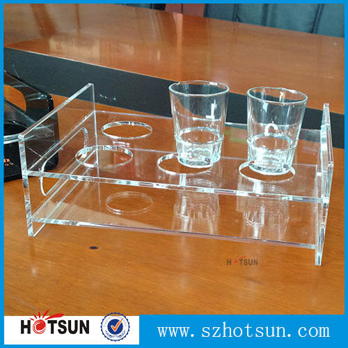 China supplier clear perspex shot glass drink holder stand