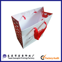 Bulk personalized new ribbon tie gift bags for products