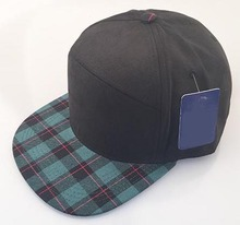 Green plaid suede brim snapback hats unique plain black panel snapback hats