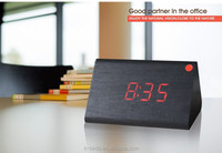 Promotional antique red led wooden digital wall desk clock for home decor