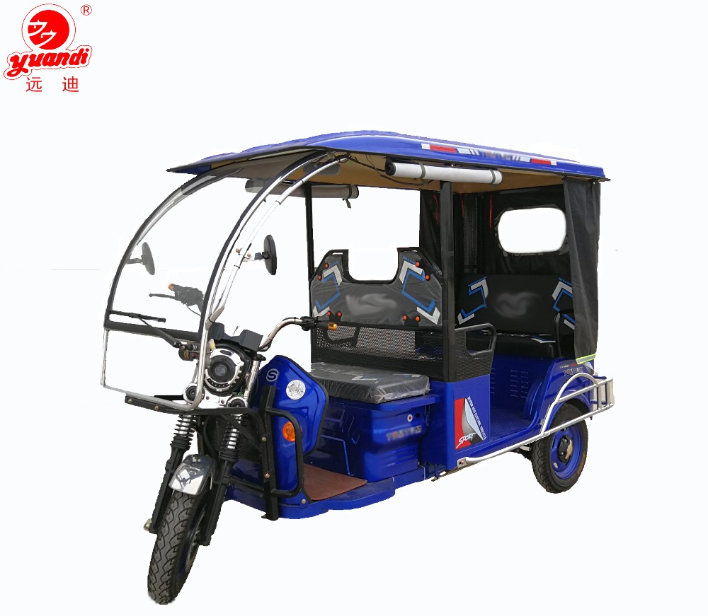 Iron Roof Covered Electric Three Wheel Motorcycle for Passengers