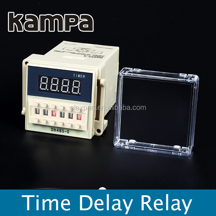 DH48S-S Digital Timer Time Delay Relay 110V 220V 380V AC 24V 12V DC 0.01S - 99H 99M 8 Pins with Base Socket