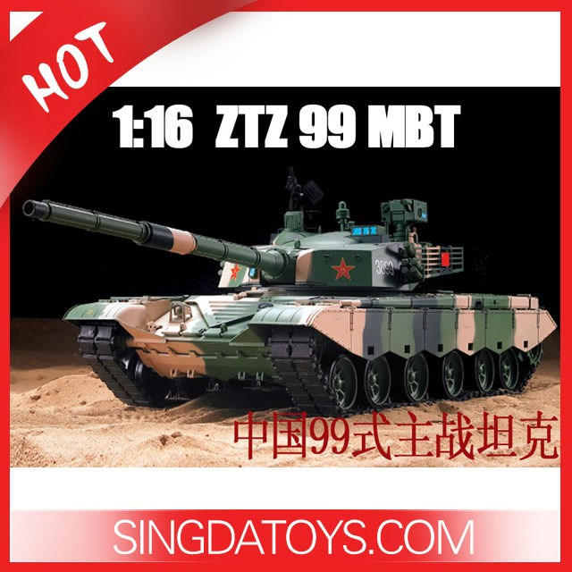 New 1/16 Radio Control Heng Long China 99Z Rc Tank With Smoking HL3899-1