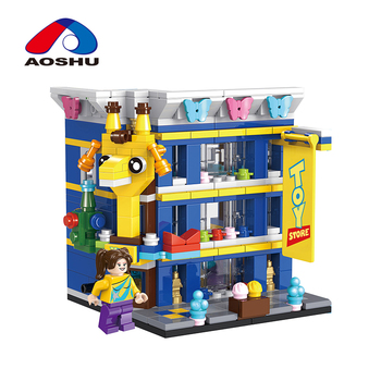 310 pcs diy city street series toyshop model giant building blocks from shantou factory