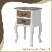 Living room furniture french provincial wooden end table