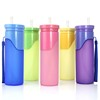 Mix colors small portable silicone drinking bottle novelty thermal cold drink bottle