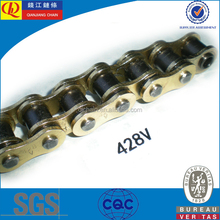 X-ring and o-ring 428v gold color Motorcycle Drive Chain For sale