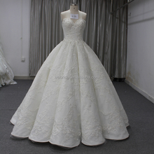 Ball Gown Sleeveless Boob Tube Top Satin Applique Sequins Beaded Wedding Dress Bridal dress