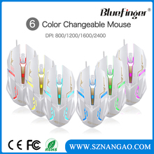 Cheaper Cool colorful backlit color USB wired computer mouse