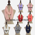 2016 New fashion women jersey scarf viscose cotton solid plain jersey infinity scarf