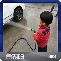 [Gold Huyang]Retractable garden hose pipe / car washing rubber hose with high pressure spray gun