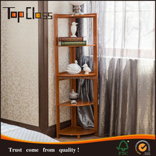 Cheap wholesale furniture Modern Appearance wood corner shelf design