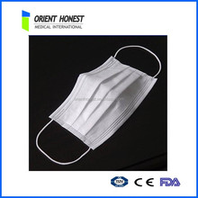 Disposable medical application 2ply or 3ply non-woevn face mask