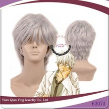 grey Fashion Style Gintama Sakata Gintoki Heat Resistant Cosplay Synthetic Wig