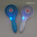 1200mAh li ion battery strong wind portable rechargeable fan with led light