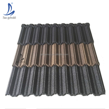 Ghana Popular Full Hard Zinc Sheet Stone Coated Metal Steel Shingles galvalume roofing price philippines