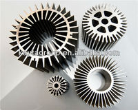 die cast stainless steel heatsink profiles cooling fin Customized round aluminum pin fin