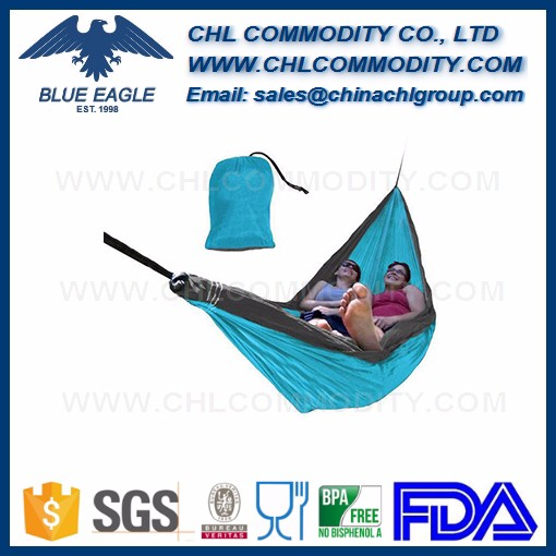 Double and Single Camping Hammocks Ultralight Portable Nylon Parachute Multifunctional Hammocks for Light Travel, Camping